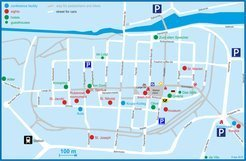 Map for hotels in the city center.