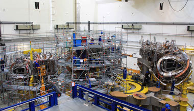 All five modules of the fusion experiment are now being assembled