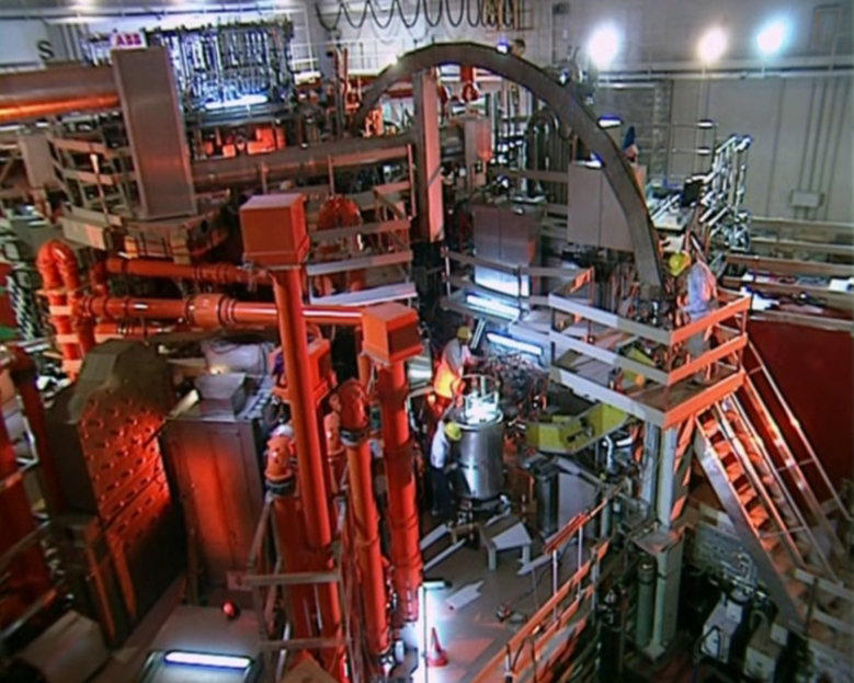 At Garching the ASDEX Upgrade tokamak is located. It is to investigate crucial questions of fusion under power plant conditions.