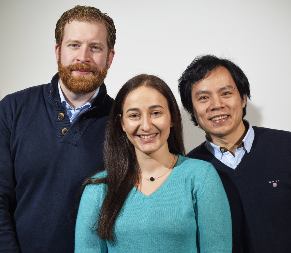 from left: Dipl. Ing. Alexander von Müller, Dr. Athina Kappatou, Dr. Liang Gao