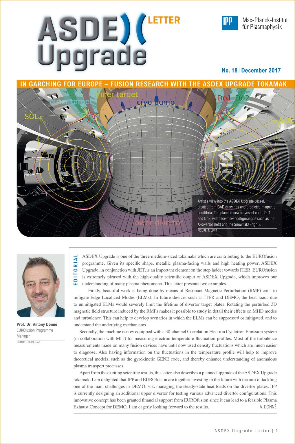 New Issue of ASDEX Upgrade Newsletter