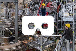The virtual tour conducts you through the Wendelstein 7-X fusion device at Greifswald