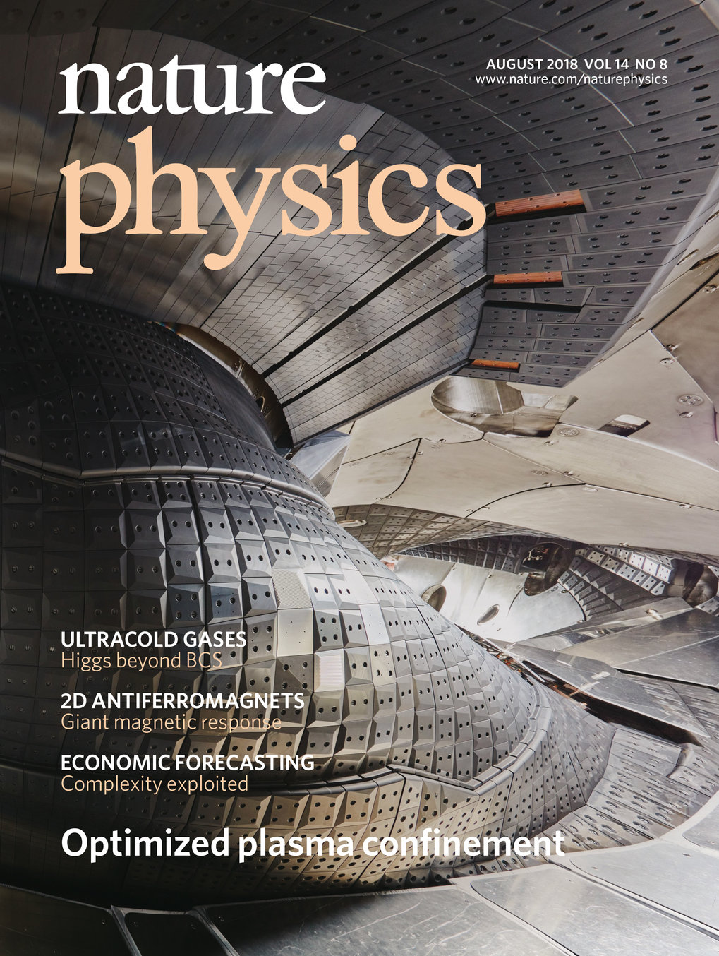 Wendelstein 7-X makes the cover