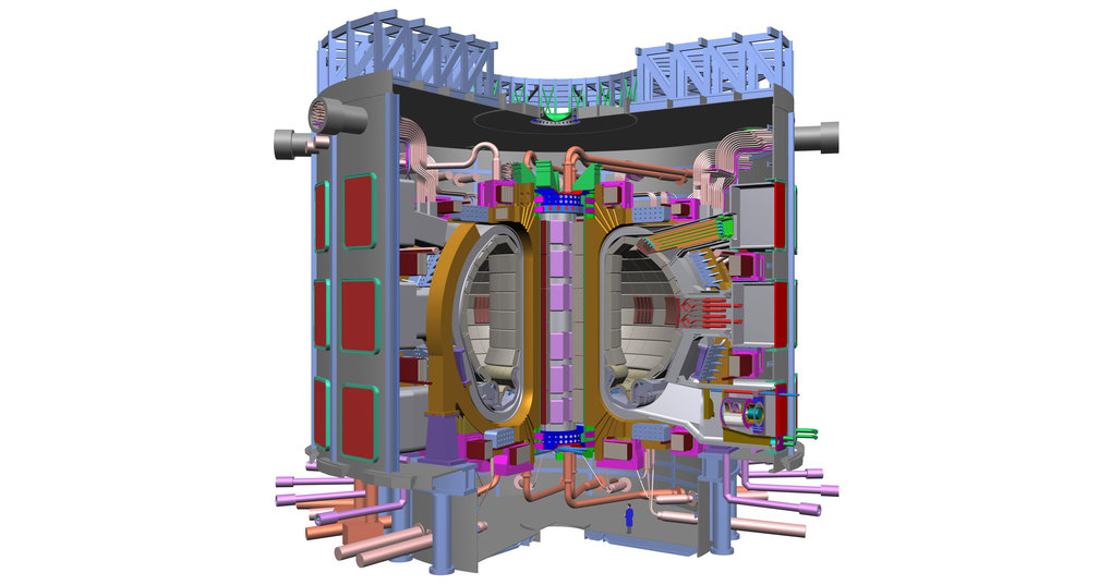 In 1985 Soviet General Secretary Gorbachev and French Prime Minister Mitterand propose the ITER international test reactor as a symbol of the end of the Cold War.