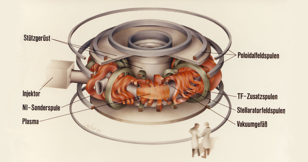 In the same year the Wendelstein 7-AS modular stellarator produces the first plasma (1988-2002).
