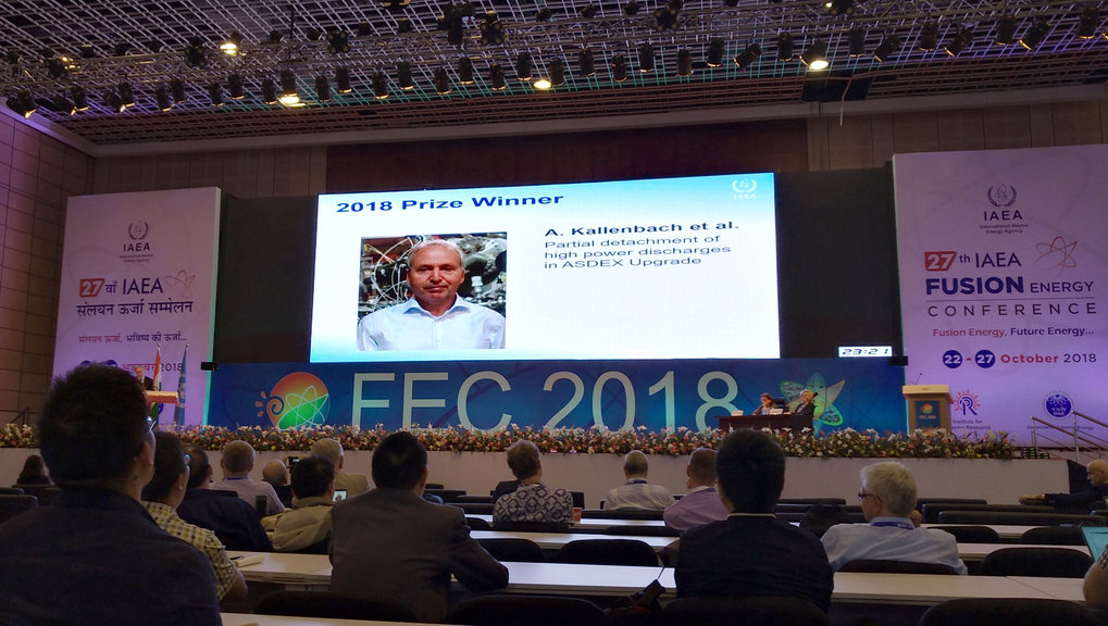 Nuclear Fusion Award 2018 to IPP scientist