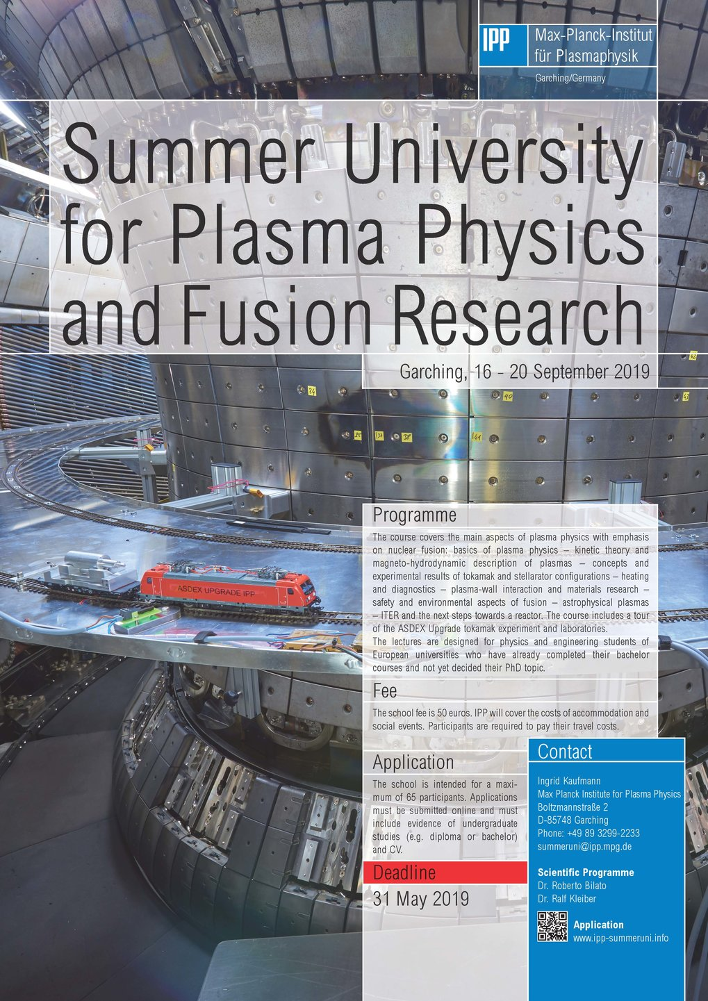 Summer University for Plasma Physics at IPP in Garching