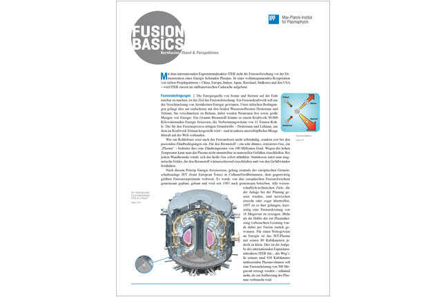 <p>A short overview of the fundamentals, status and perspectives of fusion research<br /><br />4 pages, published in 2018<br /><br /><br /><br /></p>